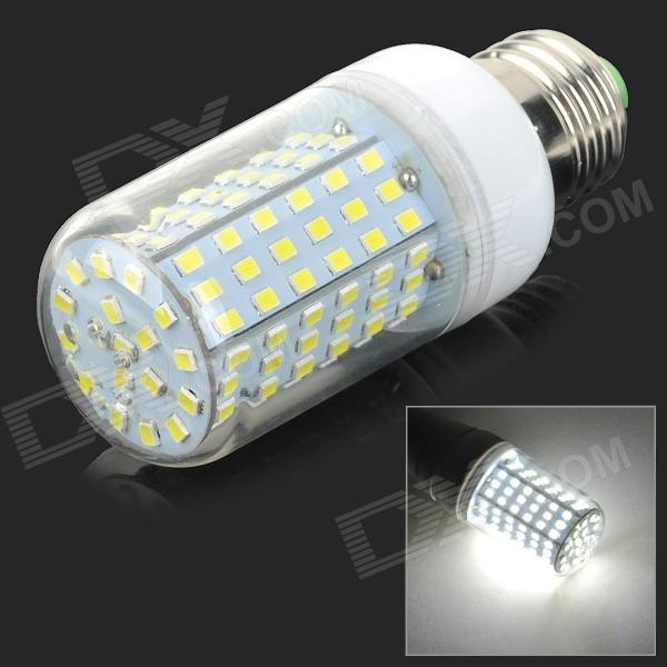 E27 10W 600lm 6500K 126-SMD 2835 LED White Light Corn Lamp - White + Silvery Grey (AC 220V) e27 10w 950lm 6500k 56 smd 5730 led white corn lamp white silvery grey ac 220 240v