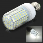 E27 10W 600lm 6500K 126-SMD 2835 LED White Light Corn Lamp - White + Silvery Grey (AC 220V)