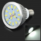 GU042 E14 4W 450lm 6000K 16-SMD 5730 LED White Light Bulb - White + Silver (AC 85~265V)