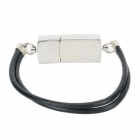 Fashionable Bracelet Style Stainless Steel USB 2.0 Flash Drive - Silver + Black (8GB)