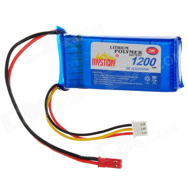 7.4V 1200mAh Lithium Polymer Lipo Battery Pack for Lama or 4-CH R/C Helicopters