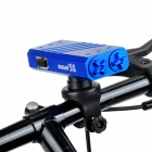 SLH SLH-H5S 2-LED 5-Mode White + Blue Light Bicycle Lamp - Deep Blue (2 x 18650)