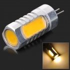 MSLED F06 G4 6W 230lm 3500K 4-COB LED Warm White Light Lamp - Silver + Yellow (AC / DC 12V)