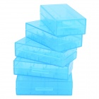 PP 18650 / CR123A / 16340 / CR2 / 15270 Battery Storage Cases - Translucent Blue (5 PCS)