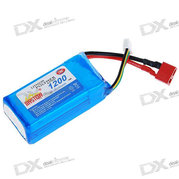 11.1V 1200mAh Lithium Polymer Lipo Battery Pack for 6-CH V3/V4-Series R/C Helicopters
