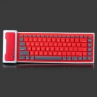 Universal Wireless Foldable Silicone Soft Bluetooth Keyboard for Cellphone / Tablet PC - White + Red