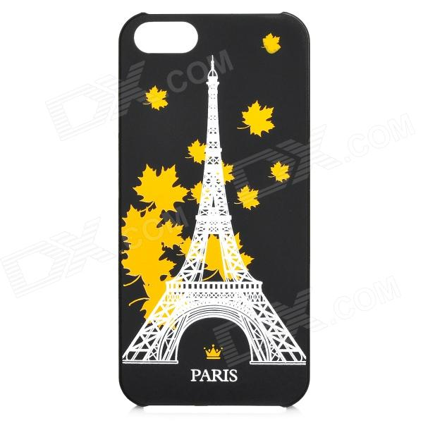 Maple Leaf Eiffel Tower Patttern Noctilucent Protective Plastic Case for IPHONE 5 / 5S