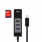 UNITEK Y-3048 High Speed Expansion 3-port USB 3.0 HUB w/ SD Card Reader Function - Black