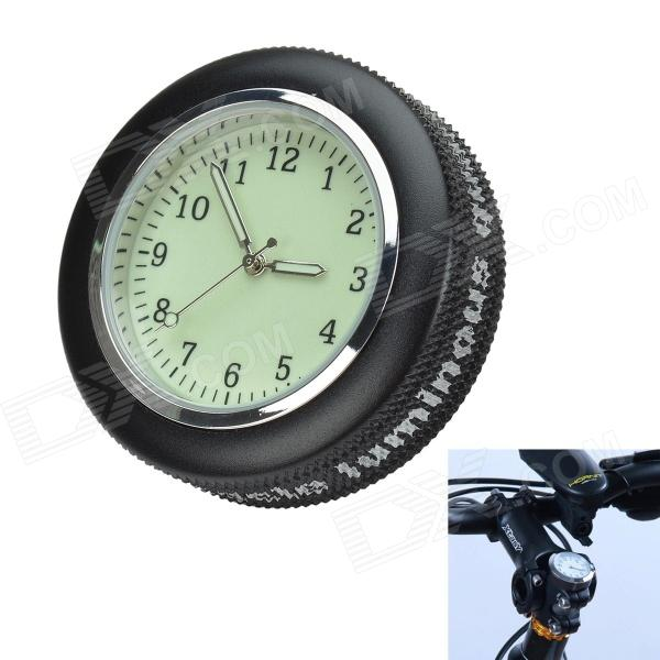 Bicycle Mounted Waterproof / Shockproof Mini Aluminium Alloy Luminous Clock Watch - Black + Silver 1 piece free shipping anodizing aluminium amplifiers black wall mounted distribution case 80x234x250mm