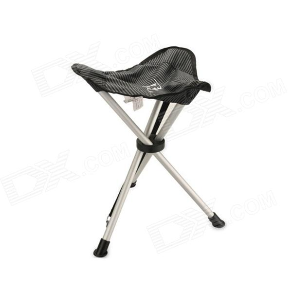 Portable Outdoor Folding Folding Triangular Stool for Fishing / Camping - Silver + Black