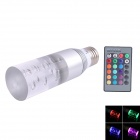 E27 3W 45lm LED RGB Acrylic Crystal Light Bulb w/ Remote Control - Silver + White (AC 85~265V)