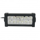 36W 6000K 12-Epistar LED White Mixing Light Working Lamp Bar for Car / Boat
