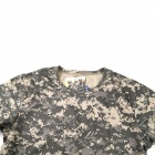 Round Neck Quick-Dry Net Breathable Short-sleeved T-shirt - ACU Camouflage (XL)