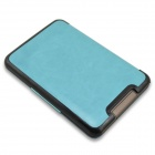 EPGATE-Protective PU Leather Flip Case Cover for Tolino Shine - Light Blue
