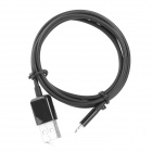 MFi Power4 8-Pin Lightning Male to USB 2.0 Male Cable for IPHONE / IPAD / IPOD - Black (100cm)