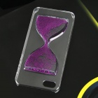 EPGATE A00479 Hourglass Pattern Protective PC Back Case for IPHONE 5 / 5S - Purple + Transparent