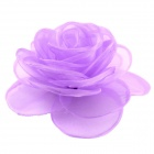 EQute Elegant Fashionable Solid Rose Flower Headdress Hair Clips / Corsage - Light Purple