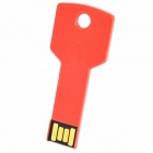 Clave acero inoxidable del estilo USB 2.0 Flash Drive - rojo brillante (16GB)