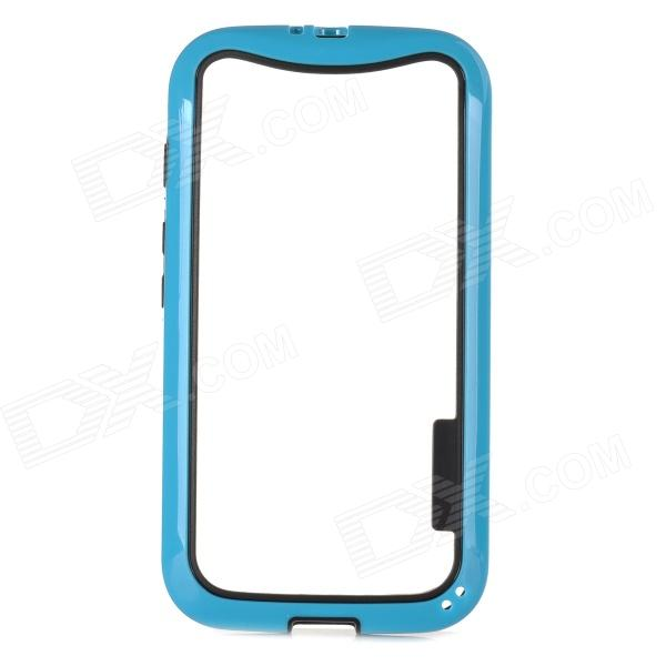 Protective TPU + PC Bumper Frame for Moto E Phone - Blue + Black protective tpu   pc bumper frame for lg