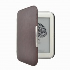 EPGATE-protection en cuir PU couverture de chiquenaude de cas pour NOOK4 New NOOK Glowlight - Café