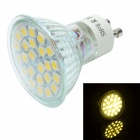 GU10 3W 240lm 3500K 24-SMD 5050 LED Warm White Light Cup Style Lamp - Silver + White (AC 110~240V)