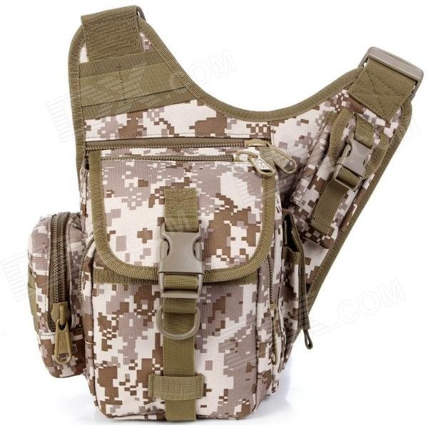 D5 Outdoor Tactical Sports D600 Nylon Backpack - Desert Camouflage
