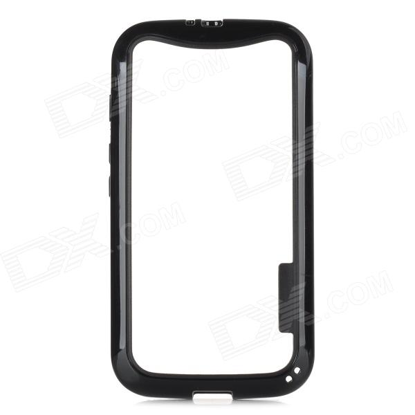 Protective TPU + PC Bumper Frame for Moto E Phone - Black