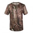 Round Collar Camouflage Quick-Dry Net Breathable Short-sleeved T-shirt - AT Camouflage (XL)