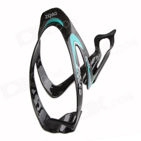 ZIQIAO BCF-1307 Carbon Fiber Water Bottle Bracket Holder for Bicycle - Black + Blue