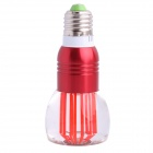E27 3W 45lm LED RGB Light Acrylic Cup Style Bulb w/ Remote Control - Silver + Red (AC 85~265V)