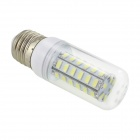 HONSCO E27 6W 350lm 6500K 48-SMD 5730 LED Cool White Corn Lamp - White + Silver (AC 220V)