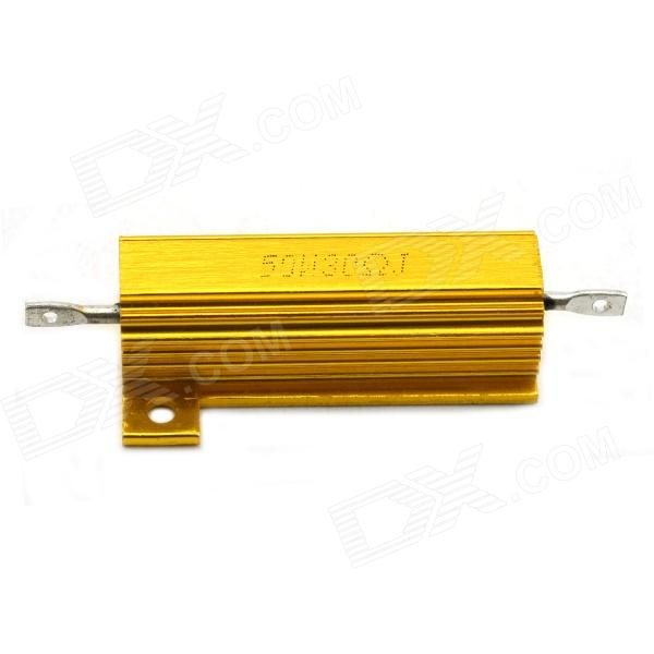 MaiTech 03120349 50W 30ohm Aluminum Alloy Shell Resistor - Golden high quality customized 150 ohm 500w watt power aluminum metal shell case gold resistor