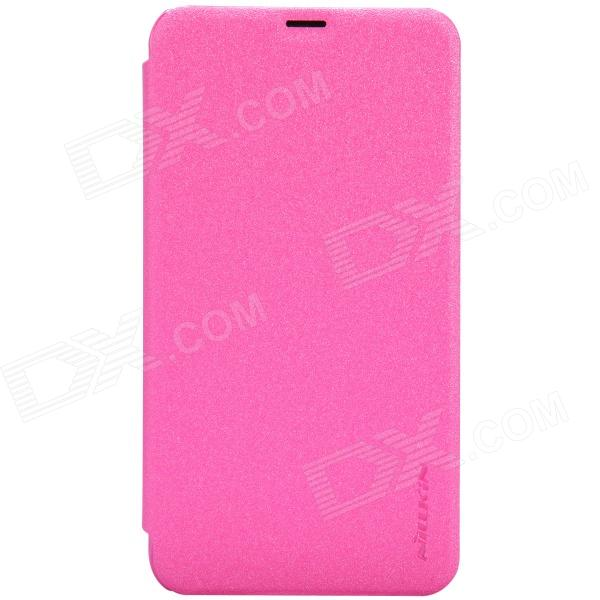 NILLKIN Protective PU Leather + PC Case Cover for Nokia Lumia 630 - Pink nillkin star series protective case for moto g2 pink