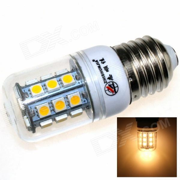 ZHISHUNJIA E27 6W 540lm 3000K 27-SMD 5050 LED Warm White Light Corn Lamp - White (AC 85~265V) r7s 15w 5050 smd led white light spotlight project lamp ac 85 265v