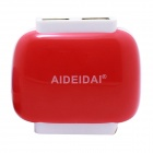 AIDEIDAI T6308 US Plug Dual USB Power Adapter for IPHONE / IPAD / IPOD / Samsung - Red (100~240V)