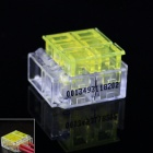 910035-3 Strip-Free 3Pin Quick-connecting Wire / Cable Connectors - Transparent + Yellow (5 PCS)