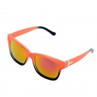 OUMILY Fashion UV400 Protection Resin Red REVO Lens Sunglasses - Orange + Black