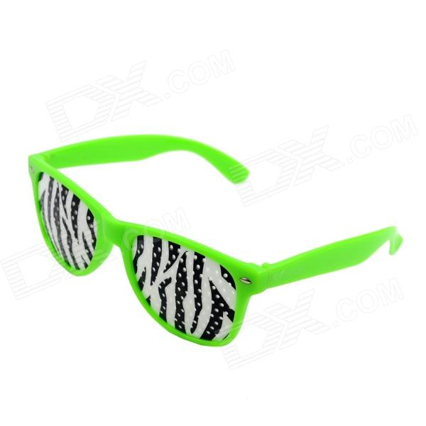 OUMILY PC Lens Eyesight Vision Improvement Pinhole Glasses Eyeglasses - Green + White + Black