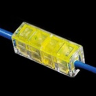 910012-1 Strip-Free Quick-connecting Wire / Cable Connectors - Transparent + Yellow (5 PCS)