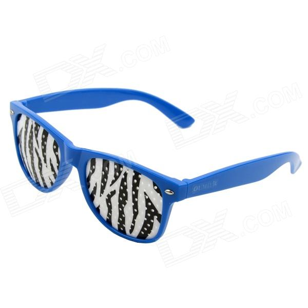 OUMILY PC Lens Eyesight Vision Improvement Pinhole Glasses Eyeglasses - Blue + White + Black