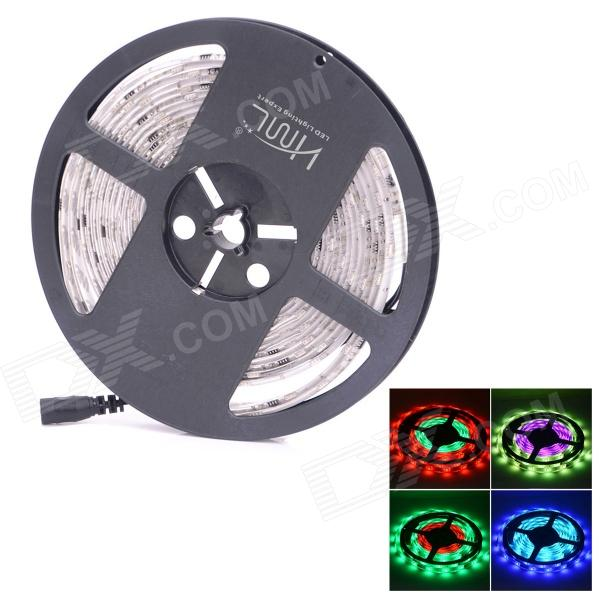 HMLS50 IC-Control Waterproof 36W 2000lm 150-SMD 5050 LED RGB Light Strip - White (DC 12V / 5M) zdm waterproof 72w 200lm 470nm 300 smd 5050 led blue light strip white grey dc 12v 5m