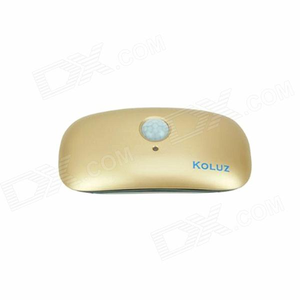 Infrared Intelligent Inductive 1W 45lm 3500K 6-LED Warm White Light Lamp - Champagne Gold (2 x 6F22)