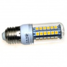ZHISHUNJIA E27 9W 630lm 3000K 48-SMD 5050 LED Warm White Light Corn Lamp - White (AC 85~265V)
