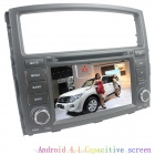 "LsqSTAR 7"" Android4.1 Capacitive Screen Car DVD Player w/ GPS WiFi Canbus AUX for Mitsubishi Pajero"