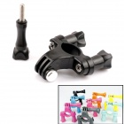 PANNOVO Universal ABS Plastic Bicycle Bracket Holder Mountt for Gopro Hero 4/ 2 / 3 / 3+ - Black