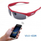 GLA-001 Universal Bluetooth V3.0 + EDR Polarized Sunglasses w/ UV Lens  - Red