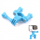 PANNOVO Universal ABS Plastic Bicycle Bracket Holder Mountt for Gopro Hero 4/ 2 / 3 / 3+ - Blue