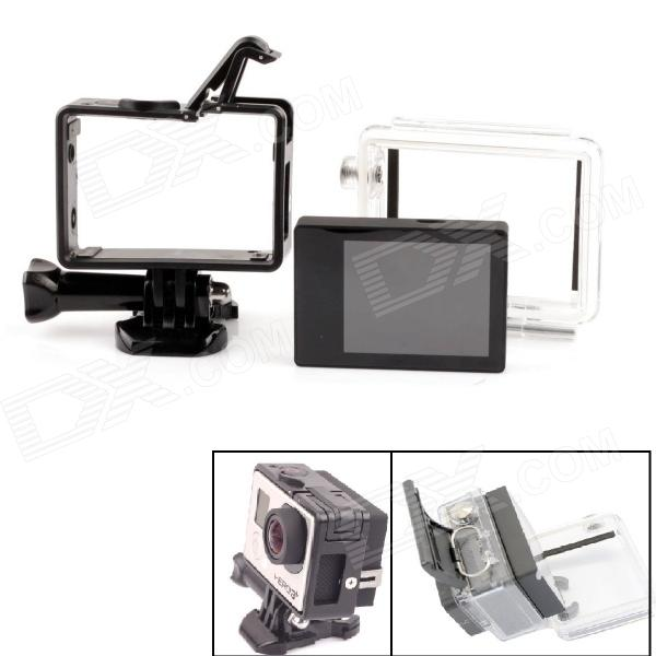 PANNOVO 2.0 TFT LCD Screen w/ Waterproof Back + Plastic Fixed Frame Case for Gopro Hero 4/ 3+ gopro hero 3 3 4 lcd screen bacpac display viewer backdoor case cover gopro expand protective frame for gopro3 3 4 accessories