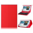 "7""-8""  Artificial Leather Flip Case with Bluetooth Keyboard for IPAD Mini, Android Tablet PC - Red"