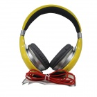 OYK OK-400 3.5mm Wired Stereo Headband Headphone - Lemon Yellow + Silver